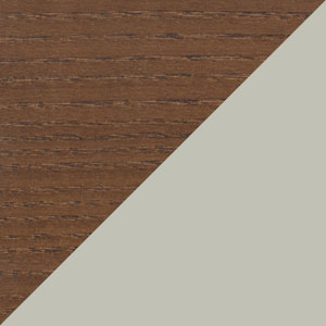 Brown Oak & Dark Grey Bonded Leather