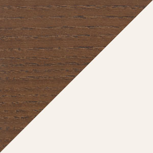 Walnut & White Bonded Leather