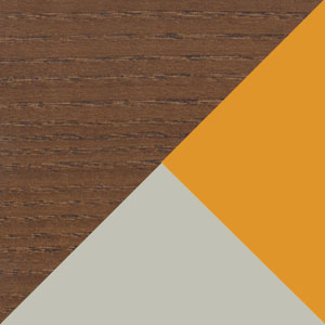 Walnut, Orange & Grey