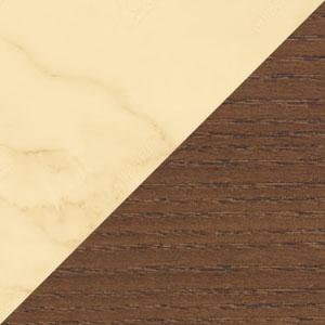 Brown Oak & Marble