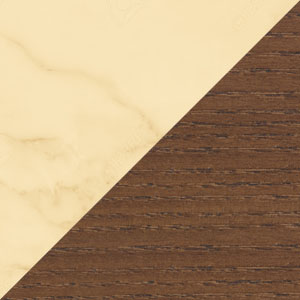 Beige Marble & Walnut