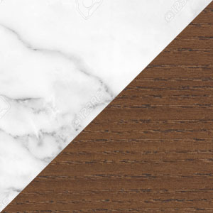 White Marble & Walnut