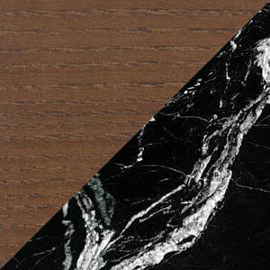 Black Marble , Walnut & gold