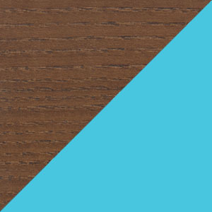 Walnut & Light blue