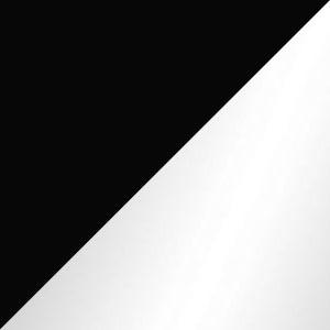 Black Glass & Glossy Aluminum